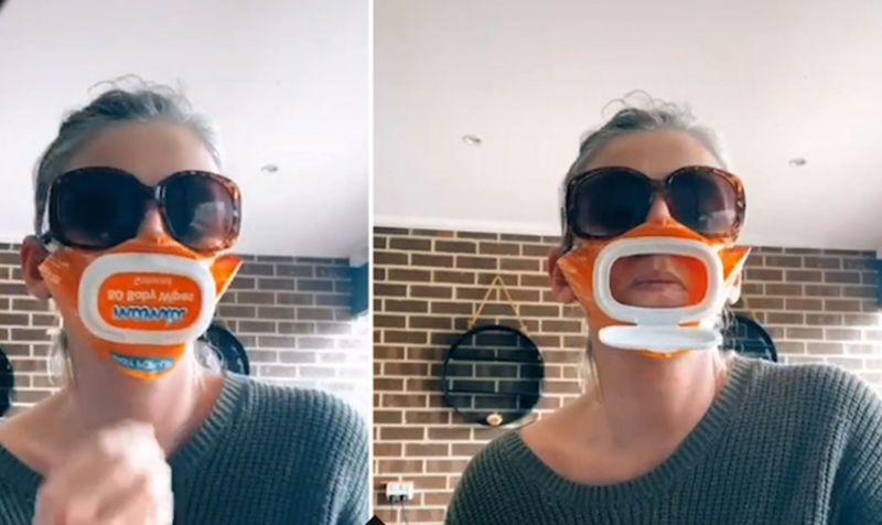 Masker Praktis Bisa untuk Makan dan Minum, Seperti Apa?