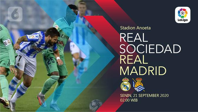 Dapatkan Link Live Streaming Vidio Real Sociedad vs Real Madrid